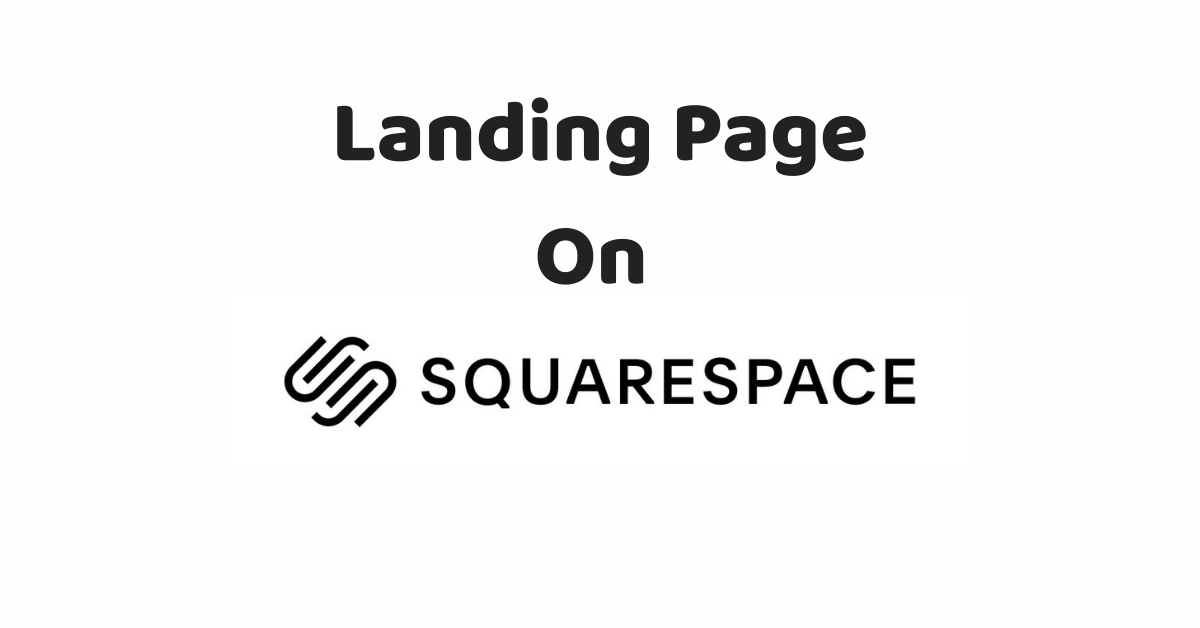 landing page on squarespace title